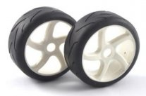 FASTRAX 1/8th Buggy On Road Tyres - 5 Spoke White Wheels