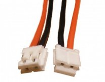 GPX Extreme: 2-pin EH white plug with 22AWG wire 30cm