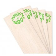 Hobby Wood : Balsa 0.8 mm medium-hardness