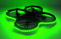 UDI U829A Drone - LED Lights Green