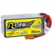 Tattu R-Line 1550mAh 14.8V 95C 4S1P lipo battery pack
