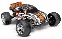 TRAXXAS Rustler 2WD 1/10 RTR TQ Orange - w/o Battery & Charger