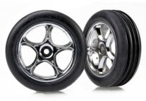 "TRAXXAS Tires & Wheels Alias Soft/Tracer Chrome 2.2"" 2WD Front ("