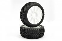 Fastrax 'Bone Block' 1/8 Off-Road Pre-Mounted Tyres on 10 Spoke