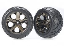 "TRAXXAS Tires & Wheels Anaconda/All-Star Black Chrome 2,8"" (2)"