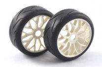 FASTRAX 1/8th Buggy On Road Tyres - Y Spoke White Wheels
