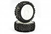 Fastrax 'Rock Block' 1/8 Off-Road Pre-Mounted Tyres on 10 Spoke