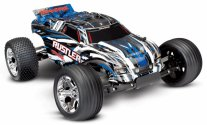 TRAXXAS Rustler 2WD 1/10 RTR TQ Blue - w/o Battery & Charger