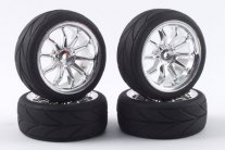 Fastrax 10-Spoke Touring Car Wheel & Tyre Set (4 Λάστιχα με Ζάντ