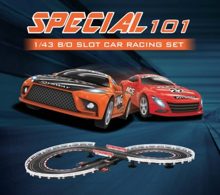 Joysway Slot Car Racing Set Special 101 1/43 Battery Operated