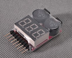 TL2693 Battery Monitor 2S - 8S with Selectable alarm Voltage